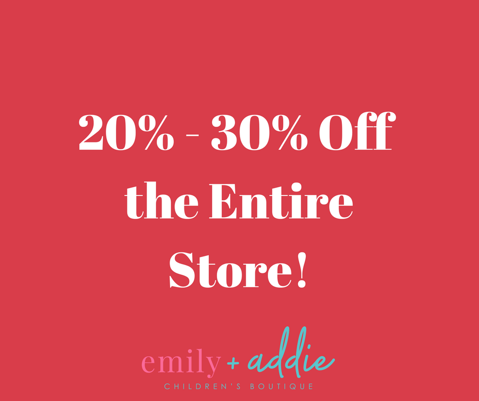 20% Off the Entire Store!